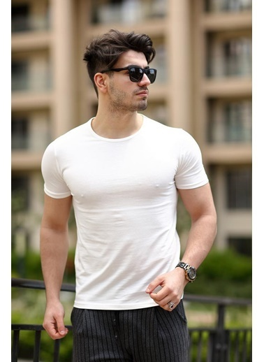 Cool Wear Cool&Wear 12104 Basic Beyaz T-Shirt Beyaz